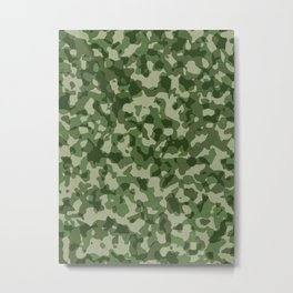 Military Jungle Green Camouflage Metal Print