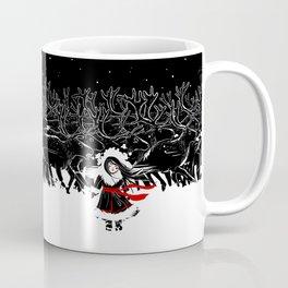 Night of Reindeer Coffee Mug