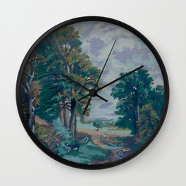 Green Forest by Lika Ramati  Wall Clock