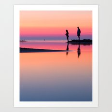 Pastels at Sunset Art Print