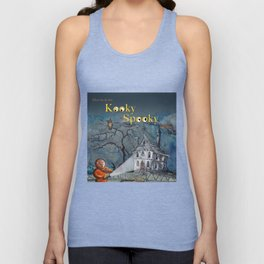 Marvin in the Kooky Spooky House Unisex Tank Top