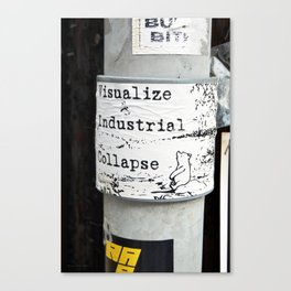 A Sticker to Make You Think, Think, Think Canvas Print