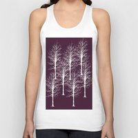 forrest Tank Tops featuring Ghost Forrest by Helle Gade