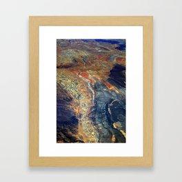 Folded Rock Framed Art Print