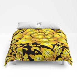 010_Thai Art Flower 03_GOLD Comforters