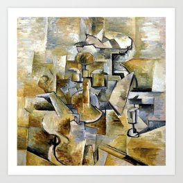 Georges Braque Violin and Candlestick Art Print