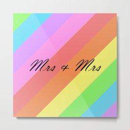 Mrs & Mrs Metal Print