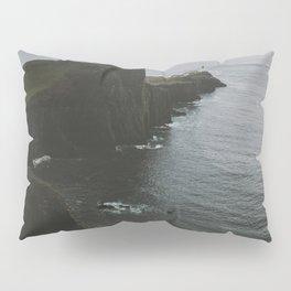 Neist Point Lighthouse at the Atlantic Ocean - Landscape Photography Pillow Sham