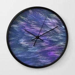 Abstract Indigo Waves Wall Clock