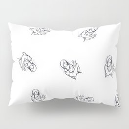 Girl with flower (from Mikuláš Galanda) Pillow Sham