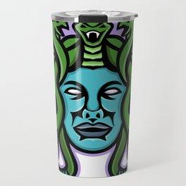Medusa Greek God Mascot Travel Mug
