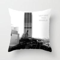 atlanta Throw Pillows featuring Rebirth Atlanta by Invert The World