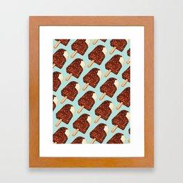 Popsicle Pattern - Ice Cream Framed Art Print
