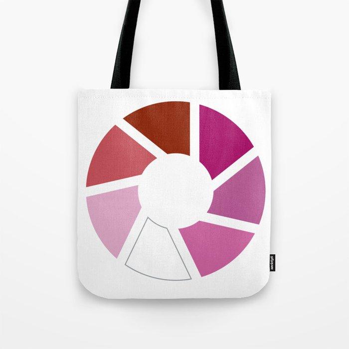 Lesbian Pride Flag Circle Tote Bag