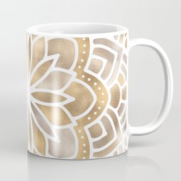 Mandala Multi Metallic in Gold Silver Bronze Copper Coffee Mug