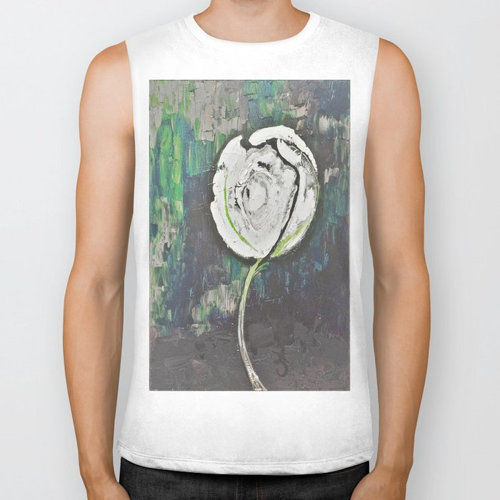 Golden Rose Acrylic Icey Green Mint Chocolate Chip Biker Tank