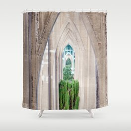 Cathedral Park Portland Shower Curtain