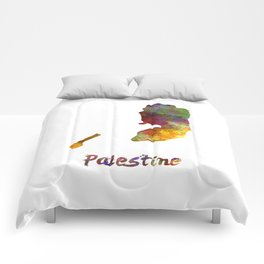 Palestine in watercolor Comforters