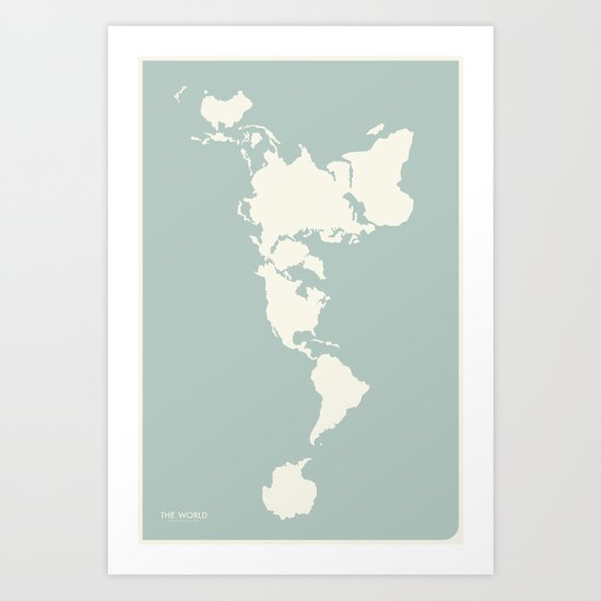 Dymaxion Map Art Print