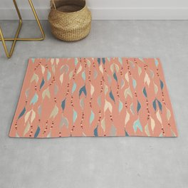 Colorful Fall Feather Beads Rug