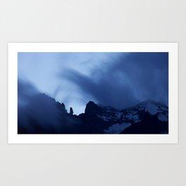 Mont Blanc Massif at night Art Print