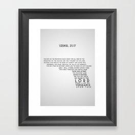 Ezekiel 25:17 Framed Art Print