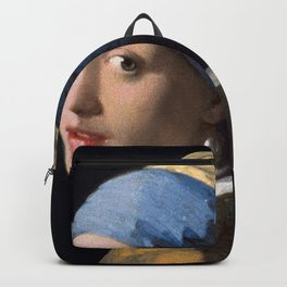 Johannes Vermeer - Girl with a Pearl Earring Backpack