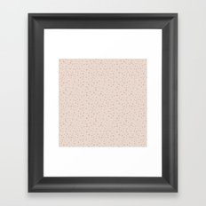 PolkaDots-Rose on Peach Framed Art Print