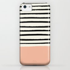 Peach x Stripes Slim Case iPhone 5c