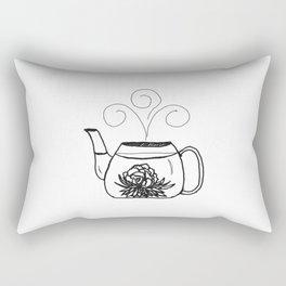 Blossoming Flower Tea Rectangular Pillow