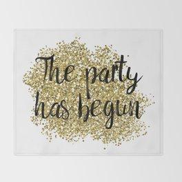 The party has begun - golden jazz Throw Blanket