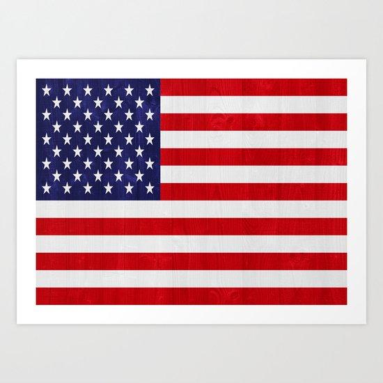 United States of America flag Art Print