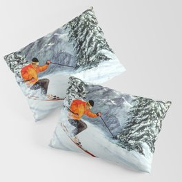 Skiing The Clear Leader Pillow Sham