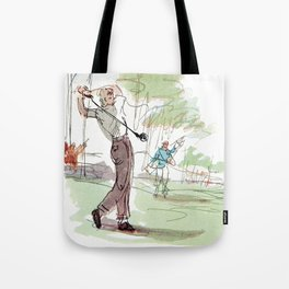 Are You Looking At My Putt? Vintage Golf Tote Bag