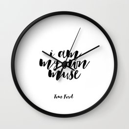Fashion Wall Art Tom Ford Quotes Tom Ford Art Tom Ford Prints Women Gift Boss Lady Printable Art Wall Clock