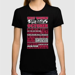 Sexy Women Are Born In October T-shirt