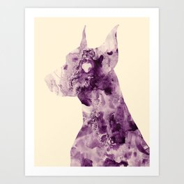 Doberman Sightings Art Print