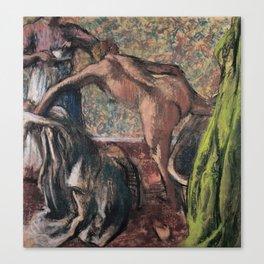 Edgar Degas - Breakfast After The Bath Canvas Print