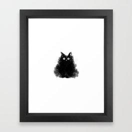Duster - Black Cat Drawing Framed Art Print