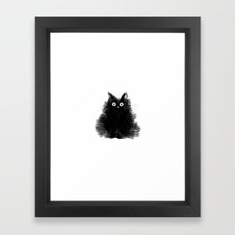 Duster - Black Cat Drawing Framed Art Print