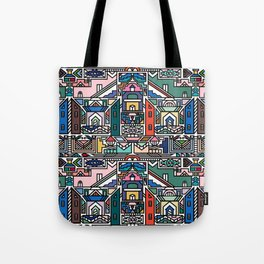 Ndebele Village Tote Bag