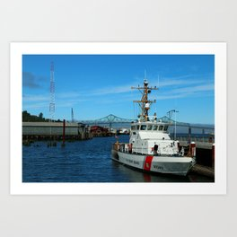 US Coast Guard On Columbia River Art Print