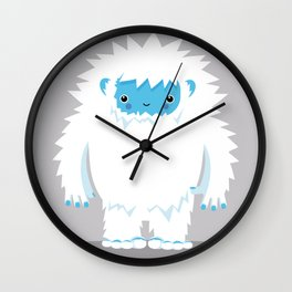 Kids Room Yeti – Illustration for the sleeping room of girls and boys Wall Clock