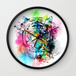 colorful tiger Wall Clock