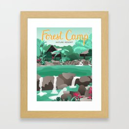 Forest Camp | Valencia Framed Art Print