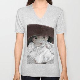 JoJo bear wearing daddies hat  Unisex V-Neck