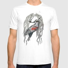 nikki MEDIUM White Mens Fitted Tee