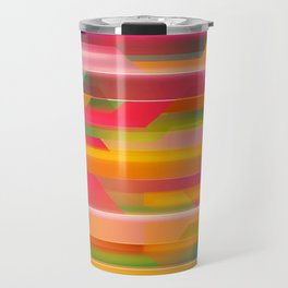 Abstract Colorful Pattern Travel Mug