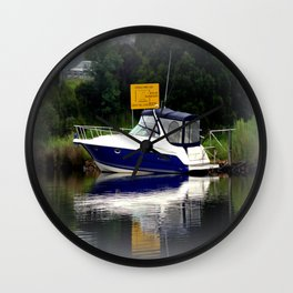 Reflections & Fog on the Thompson River Wall Clock
