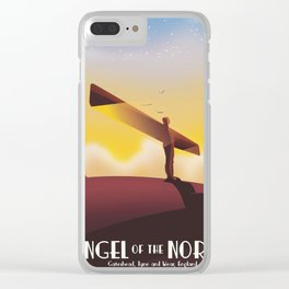 Angel of the North Travel poster. Clear iPhone Case